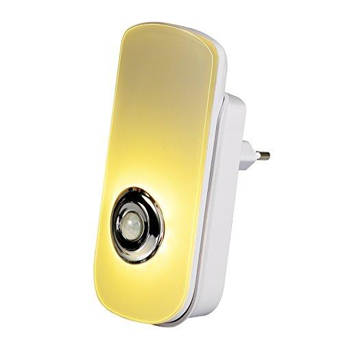 Emotionlite 5 in 1 Multifunzione Luce Notturna LED con Sensore di Movimento e Sensore di Luce Torcia Elettrica Portatile Luce di Emergenza Movimento Rlevamento PIR Crepuscolo Batteria Ricaricabile Incorporata Carica Senza Fili Interruttore di Comando Bianco Caldo (1 Confezione)