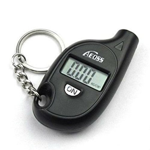 Aeoss Mini LCD Digital Tire Tyre Pressure Gauge Key chain For Car Bike Scooter Cycle