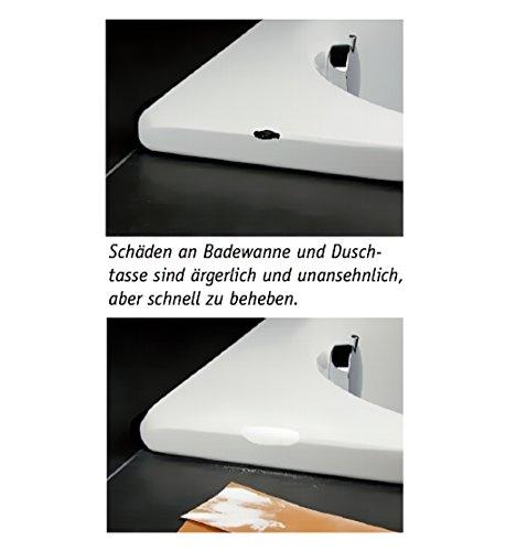 Cramer 15080DE Reparatur-Lackstift Email, Acryl, Keramik - weiß alpin (sanitärweiß) - Sanitärlack zum Ausbessern kleinerer Schäden an Badewannen, Duschwannen, Waschbecken und Fliesen