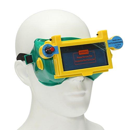 KUNSE Automatische Variablen Licht Dimmen Schutzmaske Schweißen Goggle Schweißen Gläser (Greifer Kühler)