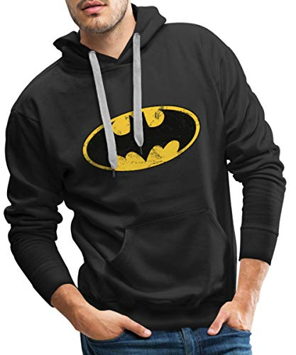 Spreadshirt DC Comics Batman Logo Used Look Männer Premium Hoodie, L, ()