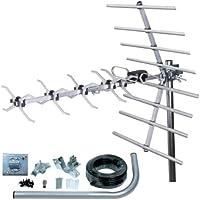 SLx 27887K4 Kit Antenne TNT numérique 32 Eléments Argent
