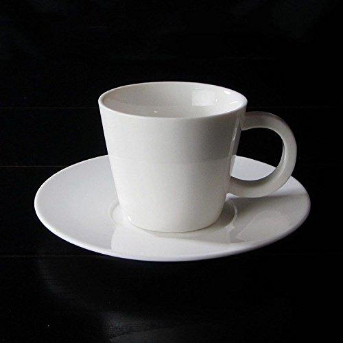 HONGYUANZHANG Business Kaffeetasse Rein Weiße Keramiktasse Hotel Teetasse Home Trinkbecher (180 Ml)