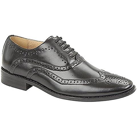 Ragazzi scarpa nera Brogue Oxford Lace Up cerimonia nuziale convenzionale