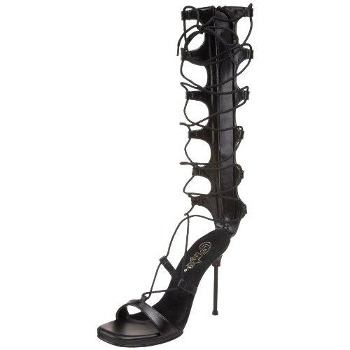 Fabulicious Chic-60, Sandales Bout Ouvert Femme Noir (Blk Pu/Blk Matte)