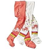 wellyou baby/kinder strumpfhosen für mädchen/jungen, babystrumpfhose/kinderstrumpfhose koralle/weiß Einhorn 2er set gr 110-116
