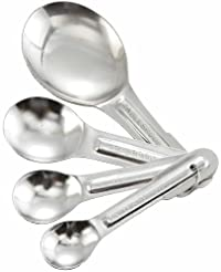Winco 4-Piece Stainless Steel Measuring Spoon Set