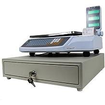 balanza bascula con impresora de ticket programable y 4 vendedores