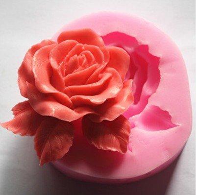 nicebuty Big Rose Blume 3D Form Silikon Kochgeschirr Dekoration Fondant Kekse Seife Schokolade Form