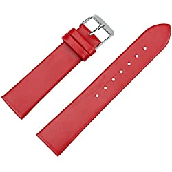 Ularmo 20mm Women Luxury PU Leather Watch Strap Watch Replacement Band Multicolors( Red)