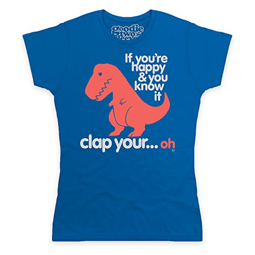 Goodie Two Sleeves Sad T Rex T-shirt, Donna, Blu royal, M