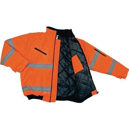 Asatex 174oa XXXL Prevent-Jacke Treiber Hohe Sichtbarkeit, leuchtorange, Größe 3x L (Auf Tasche Kragen Der Vorderseite)