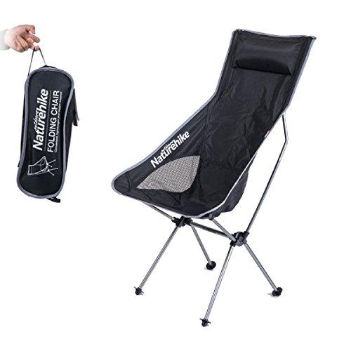 TRIWONDER Plegable Silla de Camping Ligero Portátil mochilero sillas de Campo Compacto con Bolsa de Transporte para Acampar, Playa, mochilero, Senderismo (Plata)