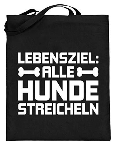 Chorchester Ideal Für Alle Tier Und Hunde Fans - Jutebeutel (mit langen Henkeln) -38cm-42cm-Schwarz