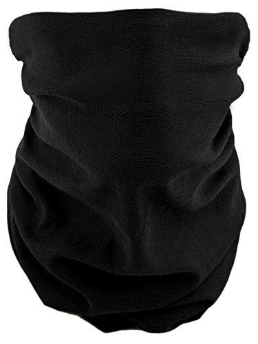 Scaldacollo tubolare, foulard, sciarpa multifunzione nero nero