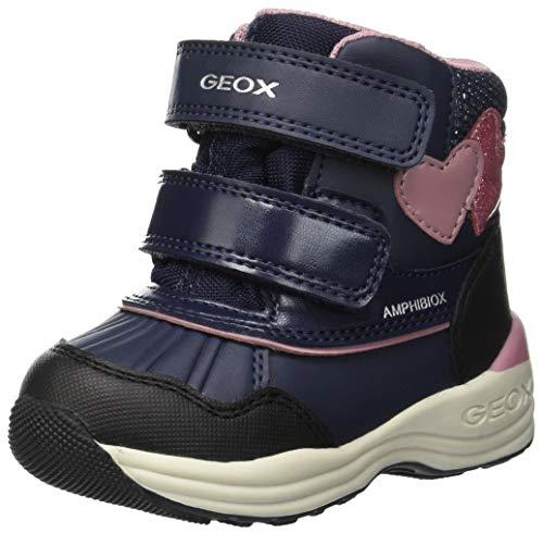 Geox Baby Mädchen B New Gulp Girl B ABX A Stiefel, Blau (Navy C4002), 27 EU