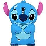 Nuevo Funda Carcasa Silicona Para Samsung Galaxy S4, Diseño de LILO Stitch, & STICH 3D-Azul