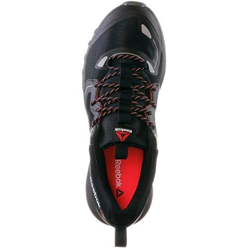 Reebok walking Scarpe Uomo, Nero (nero/rosso), 45.5 Nero (nero/rosso)