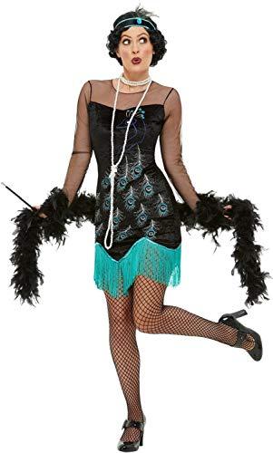 Damen Sexy Peacock 1920er Jahre Flapper Charleston Dance Film Film Film Hen Do Night Party Kostüm Outfit (1920er Jahren Flapper Dance Kostüm)