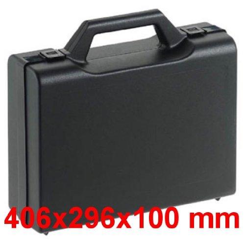 Kunststoffkoffer leer in schwarz, Außenmaß: 406x296x100 mm
