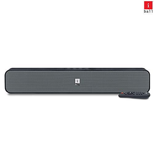 iBall Musi Bar High Power Compact Soundbar with Multiple Playback Options, Black-Grey