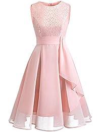 Kinlene Vestido de Mujer - Vestido de Fiesta de Noche Casual Swing Dress Elegantes de Noche