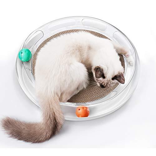 Cat Turbo Scratcher Toy, Cat Turbo Toy, Post Pad Interactive Training Übung TraCary Toy mit Turbo und Ball (Katze Spielzeug Turbo Scratcher)