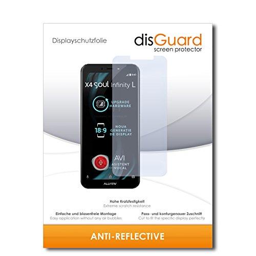 disGuard® Bildschirmschutzfolie [Anti-Reflex] kompatibel mit Allview X4 Soul Infinity L [2 Stück] Entspiegelnd, Matt, Antireflektierend, Extrem Kratzfest, Anti-Fingerabdruck - Schutzfolie