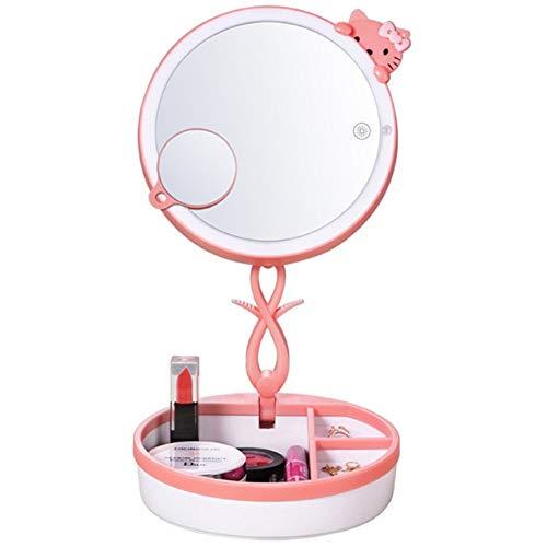 OUSENR Lámpara De Mesa Led Plegable Espejo De Maquillaje Con Luz De Escritorio Táctil Inteligente,02
