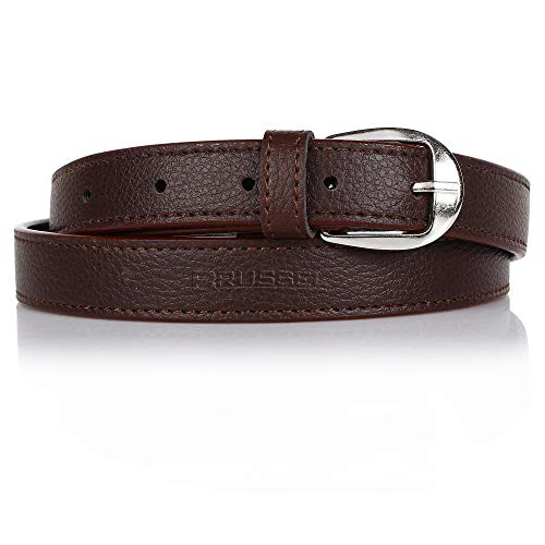 BRUSSEL® Girls/Ladies leather Formal/Casual Stylish Brown Belt  Upto 40 Size  Brown Colour 