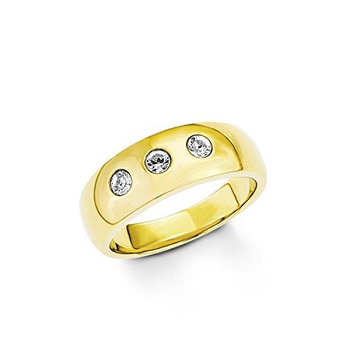 s.Oliver Damen-Ring Swarovski Elements Edelstahl Kristall weiß Gr. 52 (16.6) - 524339