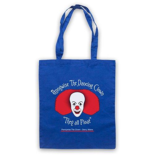 Inspiriert durch IT Pennywise The Dancing Clown Inoffiziell Umhangetaschen Blau