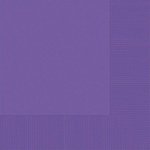 amscan 51015.25 3-Ply Luncheon Napkins, Purple Party-Zubehör, Papier, violett - Mantel 5x Herren Winter