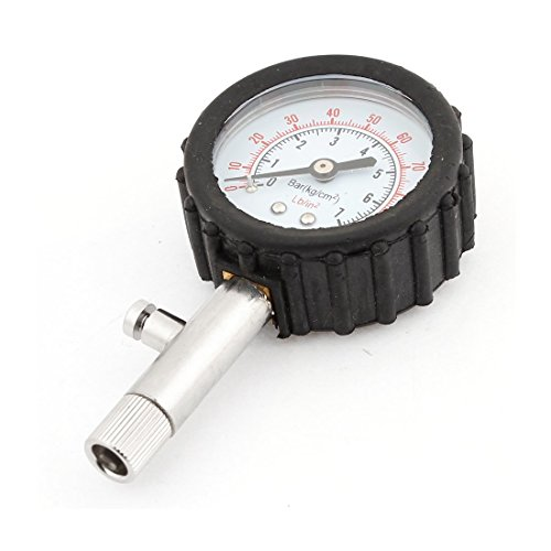 Round Dial 0-100Psi Tyre Tire Pressure Measure Gauge Black for Truck Test