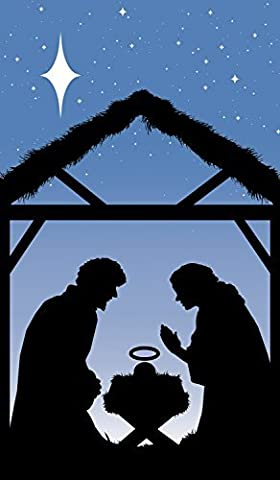 WOWindow Posters Manger Silhouette Christmas Jesus Window Decoration 34.5x60 Backlit poster by WOWindow Posters