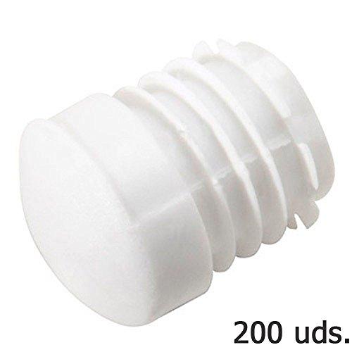 Wolfpack 5330406 - Contera plástico redonda interior para tubo exterior ø 22 mm, 200 unidades, color blanco