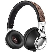 Cuffie, Sound Intone CX-05 Stereo Headset Pieghevole Regolabile Elastico Fascia Compatibile con Smartphones, Ipad, Ipod, PC (Marrone)
