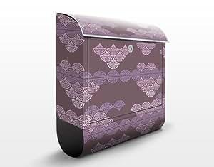 Design Briefkasten Romantisches Japandesign 39x46x13cm Motiv Briefkasten