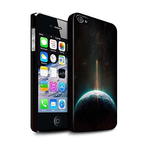 Offiziell Chris Cold Hülle / Matte Snap-On Case für Apple iPhone 4/4S / Entfernten Stern Muster / Galaktische Welt Kollektion Phönix/Raumzeit