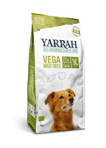 Yarrah Cibo Secco Biologico Vegano Senza Cereali - Deliziose Crocchette Vegetariane/Vegane Senza Cereali con Fagioli di Soia, Piselli, Lupini Bianchi, Baobab e Alghe - 2kg