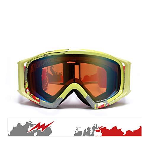 Skibrille Anti-Fog-Ski-Brille Wandern Brille Schnee Spiegel (Farbe : E)