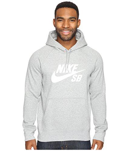 Nike Herren Sweatshirt Sb Icon Kapuzensweatshirt, grau (grau (Dk Grey Heather/Whit), L