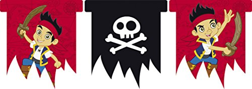 Jake und die Neverland Pirates Flag Banner 3m (Piraten Jake Und Party Neverland Die)