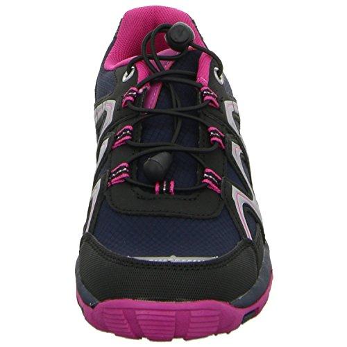 Sneakers 4407B-BK Mädchen Schnürhalbschuh sportlicher Boden Schwarz (Schwarz)