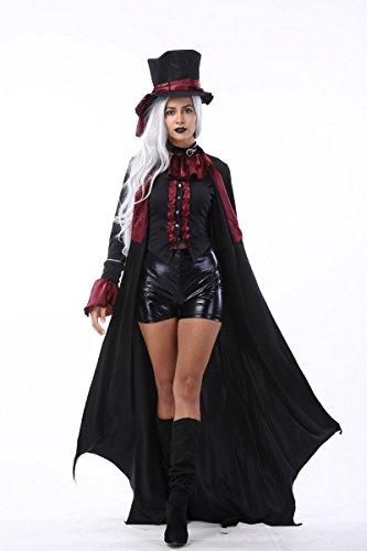 AWSAYS Halloween-KostüM Vampir DäMon MäNnlich Gentleman KostüM Nachtclub Paar Spielen Kleidung MäNner Und Frauen Kleidung (Männliche Vampir Kostüm)