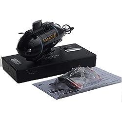 Sisit pour Drone Télécommandé à Grande Vitesse pour sous-Marin Nucléaire RC,Le Cadeau des Enfants de Drone Télécommandé à Grande Vitesse de sous-Marin Nucléaire Mini RC (Noir)