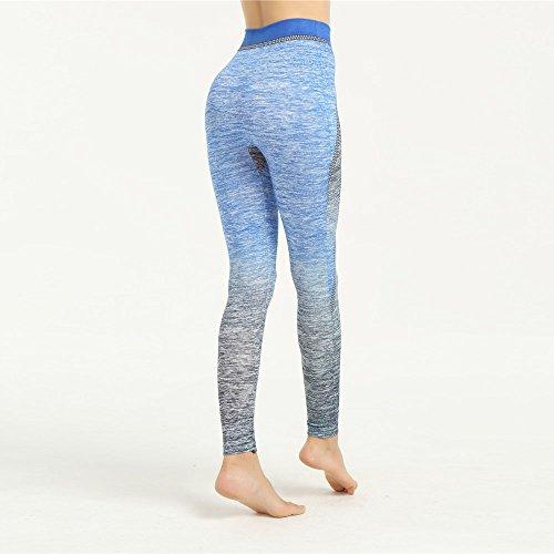 Fami Femmes Épissure Chaussures de Yoga pour Bleu foncé