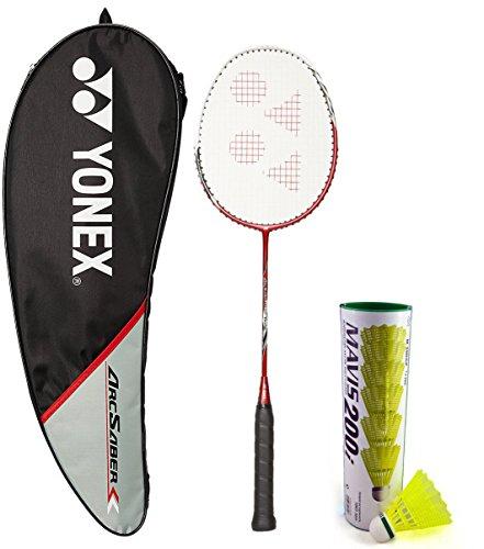 Yonex Arcsaber 200 & Mavis 200I Combo (Arcsaber 200 Taufic Hidayat Special Edition Badminton Racquet + Mavis 200I Pack of 6 Shuttlecock)  available at amazon for Rs.3261
