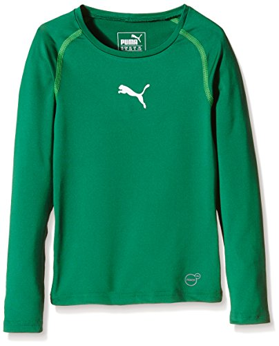 PUMA Kinder T-shirt TB Jr Long Sleeve Tee, power green, 152, 654863 05