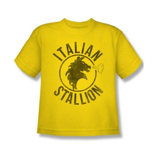 Rocky - Jugend italienische Hengst T-Shirt in gelb, X-Large, Yellow